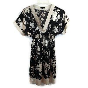 Twenty One Floral V-Neck Empire Waist Dress